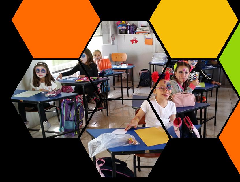 foto estudiantes primaria cervantes quito